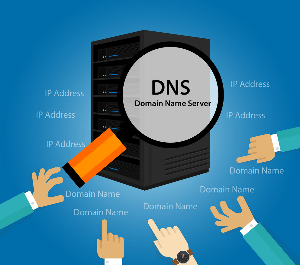 DNS Server illustration for website hosting