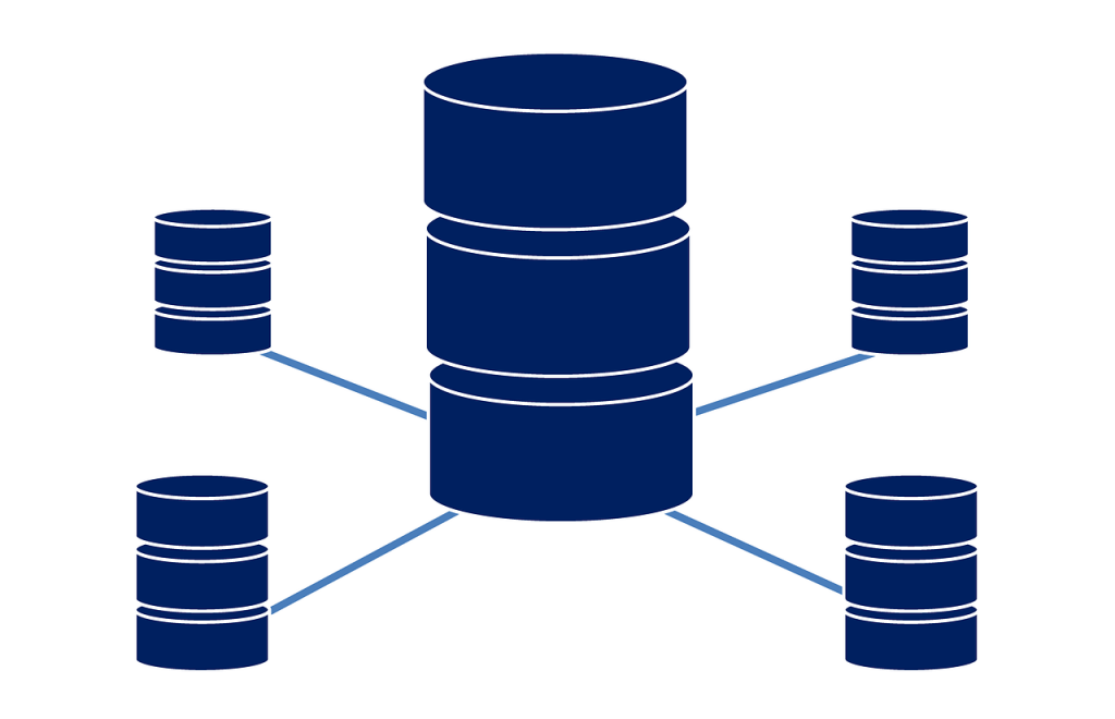 database servers connected illustration